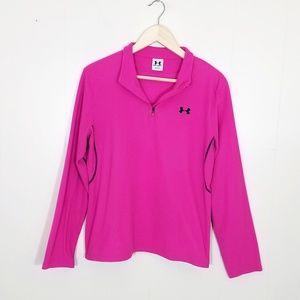 Under Armour Pink Fleece Quarter Zip Pullover